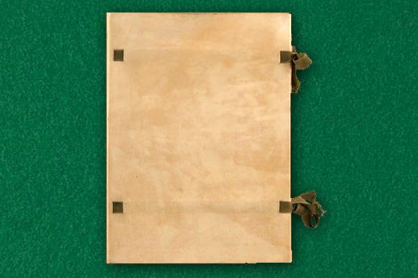 encuadernación en pergamino