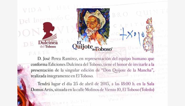 Presentacion nueva edición del quijote del toboso